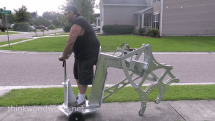 Become a mechanical centaur with this wild drill-walker