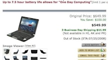 Eee PC 1000H gets a $100 price drop