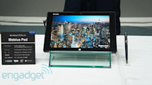 Sharp's first Windows 8 tablet has 10.1-inch, 2,560 x 1,600 IGZO display and water resistance (hands-on)