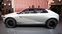 Hyundai goes retro-futuristic with its 45 EV concept