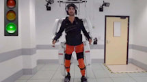 A mind-controlled exoskeleton helped a paralyzed man walk again