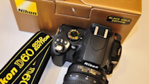 Nikon's ritzy D60 Black Gold edition DSLR seen in the wild