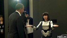 President Obama takes a minute to chat with our future robot overlords (video)
