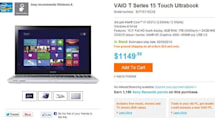 Sony VAIO T14 and T15 touchscreen Ultrabooks arrive at Sony's store, Best Buy starting at $770