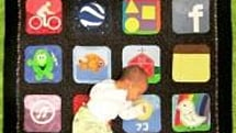 Grandma makes iPhone quilt for grandson