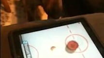 Breaking: Dog plays iPad Air Hockey