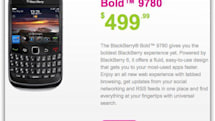 Mobilicity launches BlackBerry Bold 9780