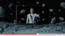 Toshiba Japan tosses meteorites around in its new Cell TV ad