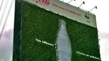 Coca-Cola's green billboard consumes carbon dioxide like so much sugary soda