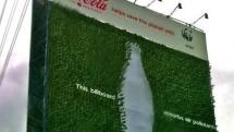 Coca-Cola's green billboard consumes carbon dioxide like so much sugary soda