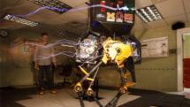 Watch this biped robot endure kicks and a barrage of dodgeballs