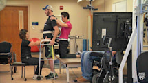 Electronic implant helps paralyzed people walk again
