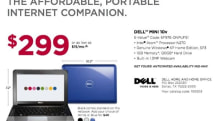 Dell's $299 Mini 10v netbook spotted, SSD options added