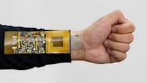 Sticker sensor monitors your body using wireless power
