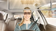 Bosch's virtual visor eliminates sun glare without blocking your view