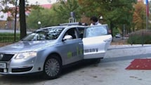 Self-driving taxi picks you up at the press of a button (video)
