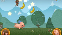 Daily iPhone App: Baby Monkey (going backwards on a pig)