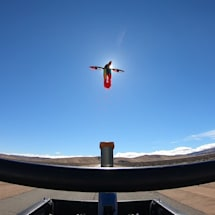 Watch a 'transforming' drone blast out of a cannon