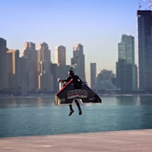 Watch jetpack pilot Vince Reffet set a new altitude record in Dubai