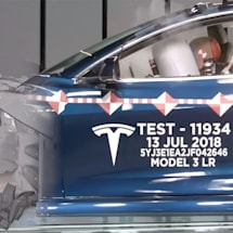 Watch Tesla's crash test lab wreck Model 3s to make them safer