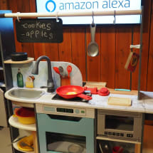 KidKraft's Alexa-powered toy kitchen sizzles and tells dad jokes