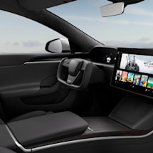 The redesigned Tesla Model S interior swaps in a steering yoke | Engadget