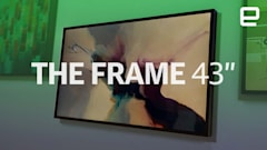 Samsung's 43-inch Frame TV is like a fancy art piece for your wall