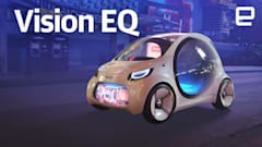 Cruising the Las Vegas Strip in the Smart Vision EQ concept car