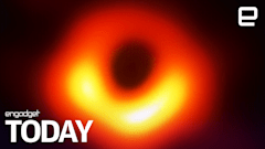 This is the first real picture of a black hole