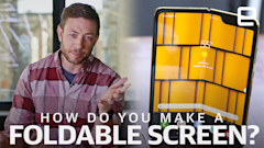 How do you build a foldable screen?