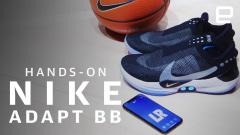 A closer look at Nike's Adapt BB auto-lacing basketball shoes