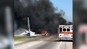 At least two dead in military plane crash near Savannah, Georgia