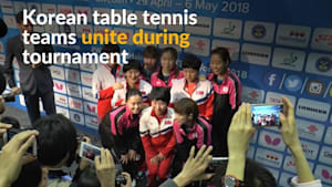 Korean teams unite half way through table tennis world championships