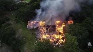 Lightning Strike Sets Historic House on Fire