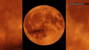 Why September's Harvest Moon Looks Orange