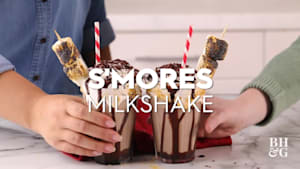 S'mores Milk Shakes
