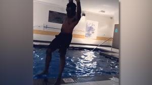 Swimming Pool Slip and Fall