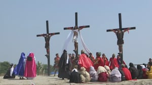Reenactment of Jesus' Crucifixion in Philippines