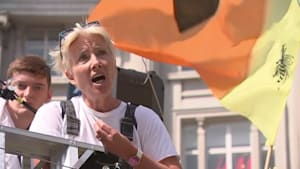 Actress Emma Thompson joins London climate protest