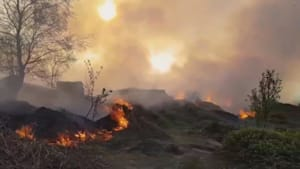 Huge blaze breaks out on West Yorkshire moorland