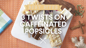 3 twists on caffeinated popsicles