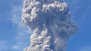Volcano in Indonesia sends ashes spewing four miles up into the sky