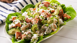 Lobster salad with avocado