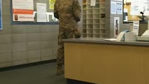 Air Force husband surprises wife at school
