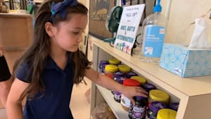 6-year-old collects 1,000 jars of PB and J so classmates won't go hungry
