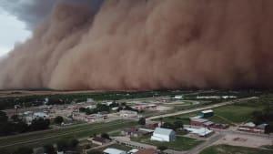 Drone captures massive dust storm