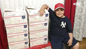 10-year-old boy trying to change the world