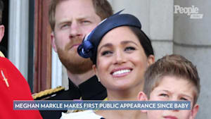 Meghan Markle and Kate Middleton on trooping