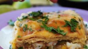 Shrimp enchilada casserole