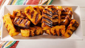 Fireball grilled pineapple wedges